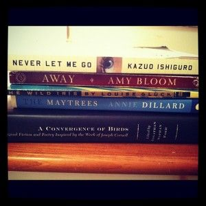 Read Book Spine Poetry Never Let Me Go Away The Wild