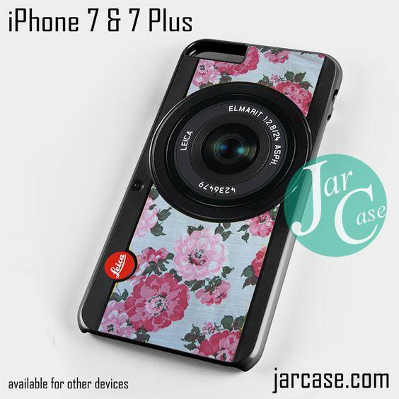 original floral leica camera Phone case for iPhone 7 and 7 Plus