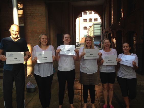 The office team undertook the Ice Bucket challenge back in September. Here's us after we got dunked!