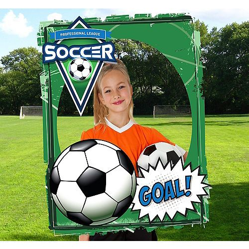 Giant Soccer Photo Booth Frame Party City Soccer Party Soccer Party Supplies Photo Booth Frame