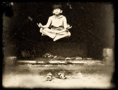 Ladakh, c. 1916—Young Jacob Singh demonstrates his mastery of the Accomplishment of Great Lightness (laghima), one of the Eight Primary Siddhis of the Indo-Tibetan tradition