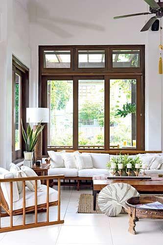 Modern asian style resort living interior inspirations for Japanese window design