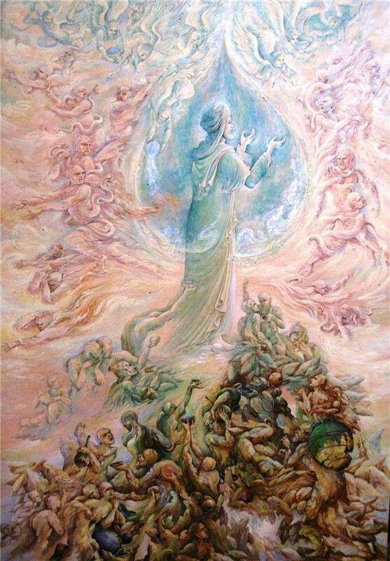 نقاشی استاد فرشچیان روز عاشورا