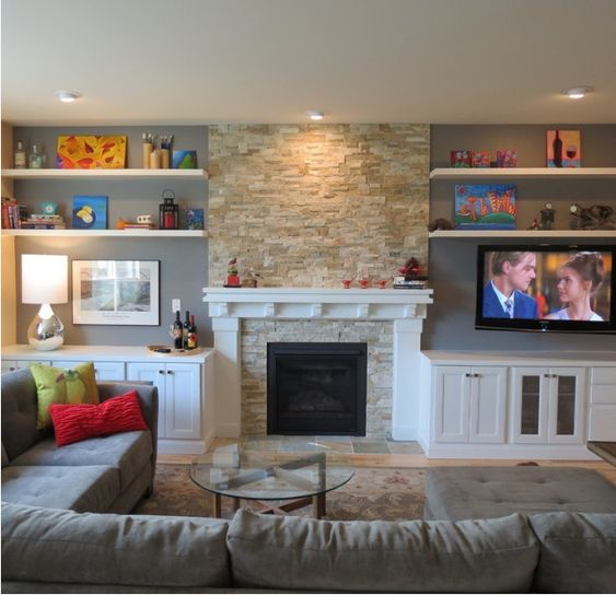 Fireplaces, TVs And Family Rooms On Pinterest