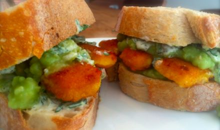 The most effective hangover cure ever - fish finger buttie