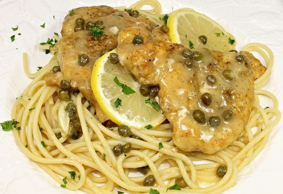 Chicken Piccata  I ♡ this dish so much. It is quick, easy and delicious.