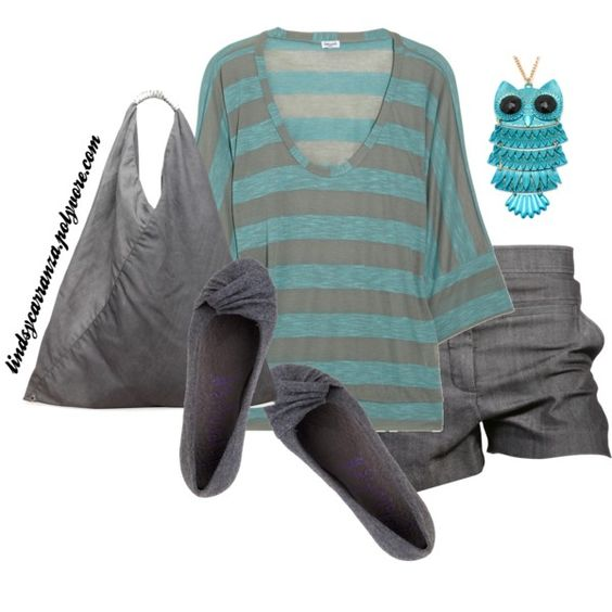 Casual Grey and Blue, created by lindsycarranza on Polyvore
