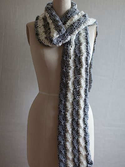 Mock Cable Knit Scarf Pattern : Free Crochet Pattern Download -- This Tunisian Mock Cable Scarf, designed by ...