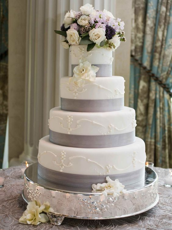 grey wedding cake ideas wedding color palettes grey weddings and wedding colors 14984