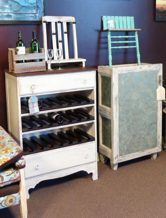 wine dresser redo and more cover ups wine racks repurposed wine ...