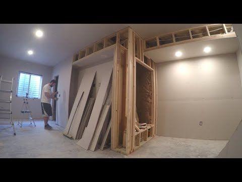 Basement Finishing Time Lapse Youtube Basement Remodel Diy Home Design Living Room Basement Guest Rooms