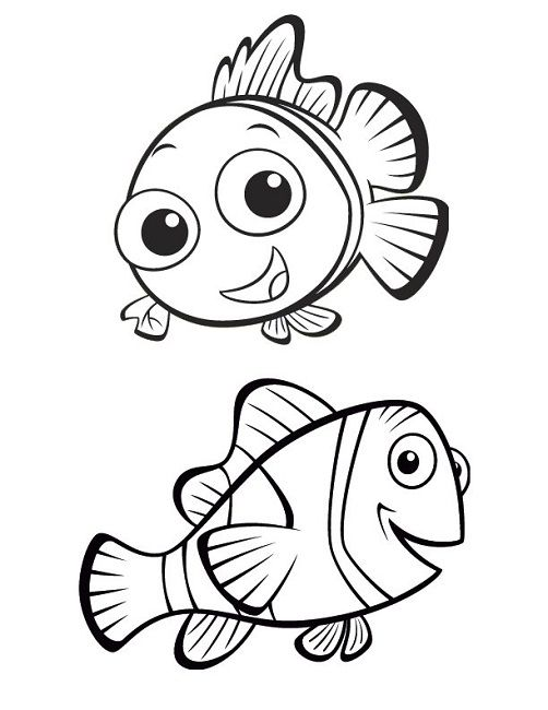 Finding Nemo Coloring Pages Marlin
