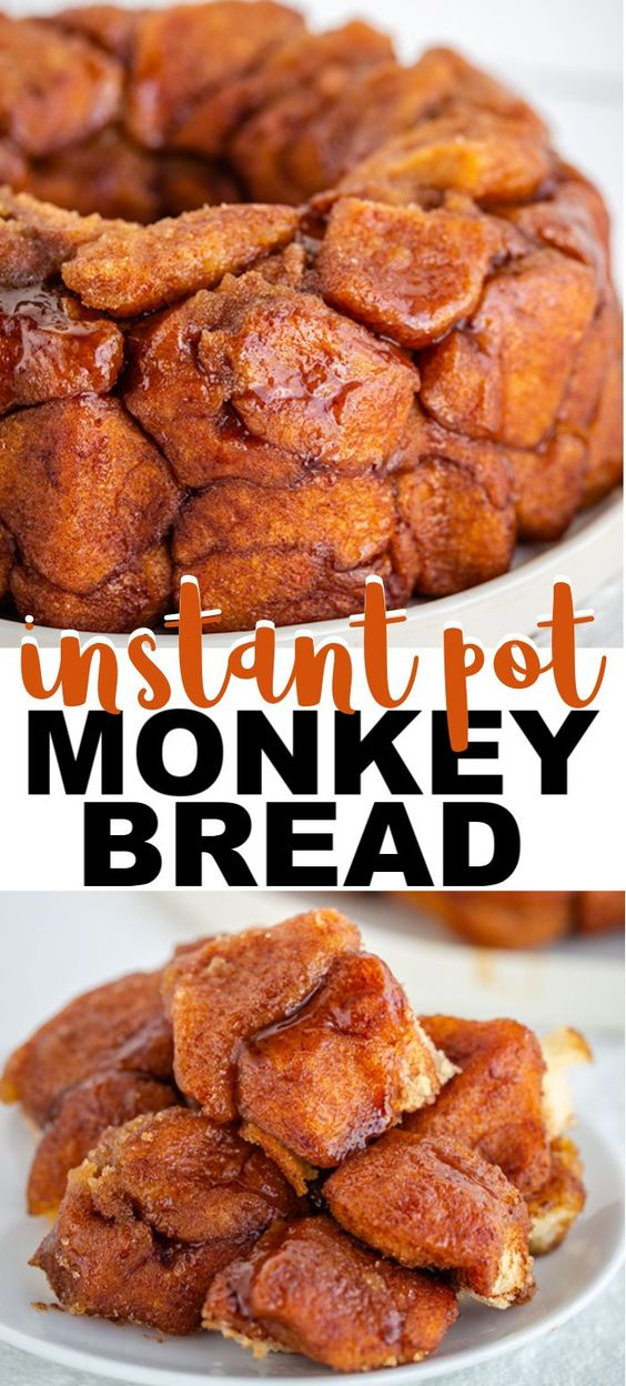 Instant Pot Monkey Bread - This Instant Pot Monkey Bread is so easy to make and tastes amazing! This