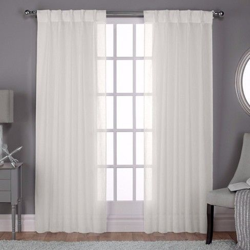 Belgian 5 Pinch Pleated Sheer Window Curtain Panels Exclusive