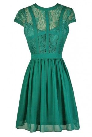 Green Lace Dress, Cute Green Dress, Jade Lace Dress, Teal Lace Dress, Green Lace Party Dress, Green Lace Cocktail Dress, Green Lace A-Line Dress