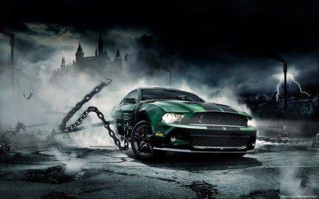 mustang   auto mustang-bullitt-2- auto Mustang monster wall Blue Mustang Mustang ...