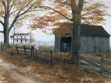 Old County Road Country Framed Art by Billy Jacobs