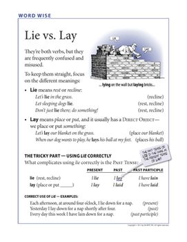 lay vs lie worksheet free worksheets library download and print worksheets free on comprar. Black Bedroom Furniture Sets. Home Design Ideas
