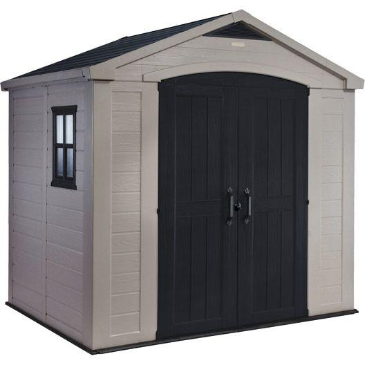 Caseta de jardin metalica doble puerta corredera 2, 43m²