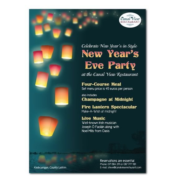 New Year's Eve Party Flyer (avizadesign.com) | Graphic Design ...