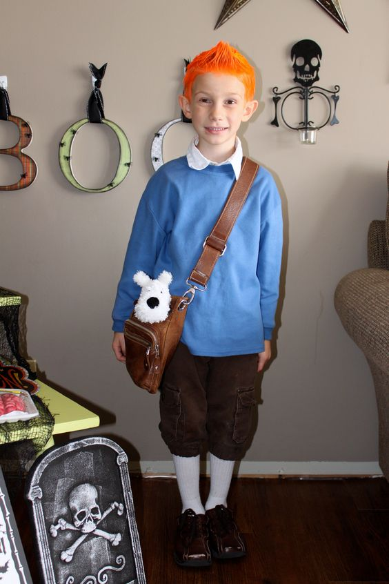 'Will's Tintin costume! We nailed it!!' said previous pinner • Tintin, Herge j'aime