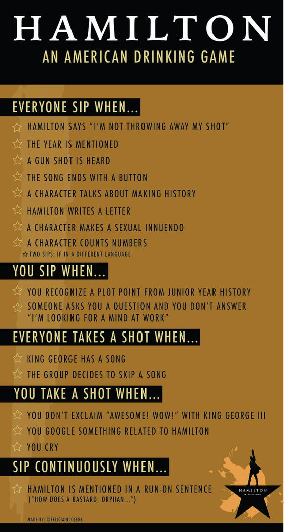 Community Post: The Hamilton Musical Drinking Game