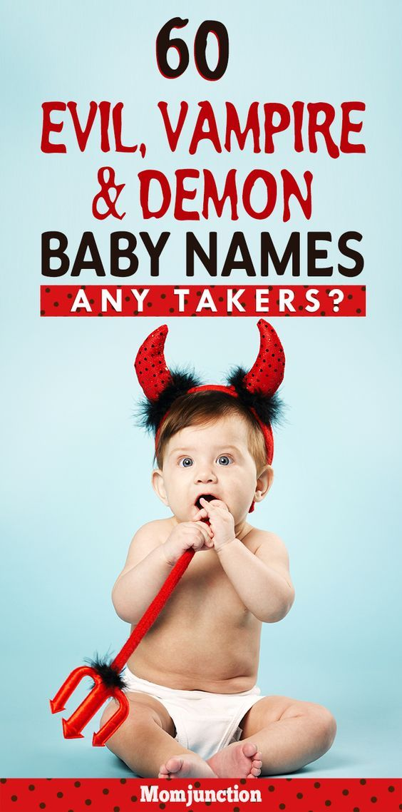 Baby Boy Baby Evil : Evil,, Vampire, Demon, Names, Takers?, Baby,, Names,