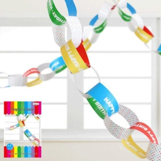 4M Rainbow Happy Birthday Chains/Party Decorations/Kids Party Supplies