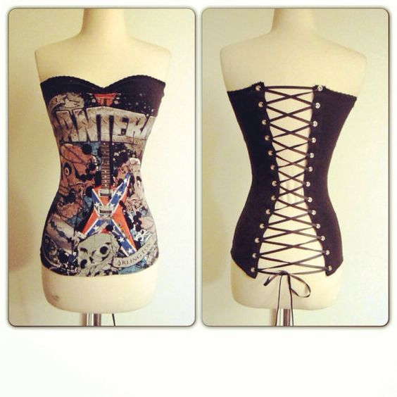Corset tops, Corsets and Heavy metal
