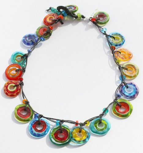 Penny Carter - Multi-coloured Hoop Necklace