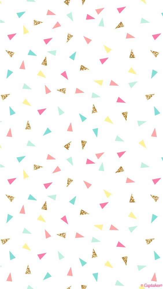 Triangulos colores purpurina divertido