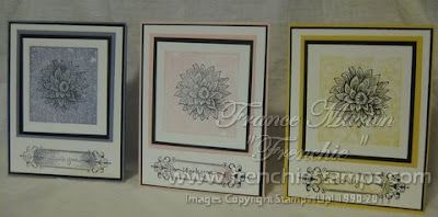 Stamp & Scrap with Frenchie: Stampin'Up! Stamping with Clear Block for Background