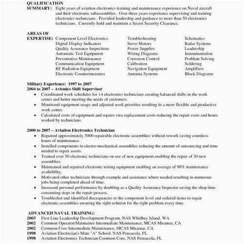 79 Inspiring Stock Of Sample Resume For Electrician Supervisor