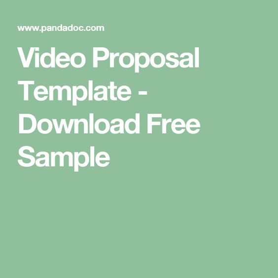 Video Proposal Template   Download Free Sample Videography Class   Free  Event Proposal Template Download  Free Event Proposal Template