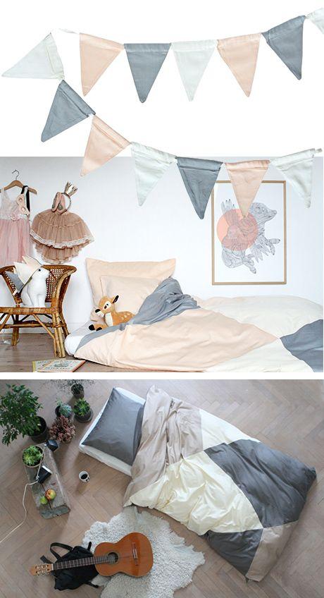 Lad dine børn sove og drømme sødt i Fabelabs smukke og bløde sengetøj i 100% økologisk bomuld og dæmpede lækre farver.