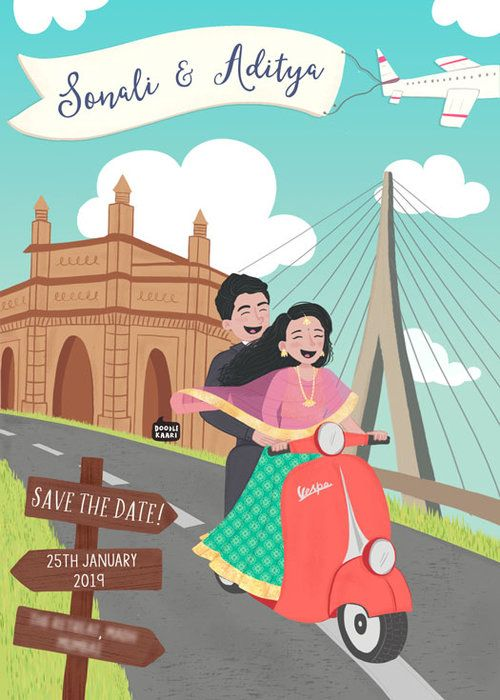 Custom Illustrated Wedding Invite - 21 #wedding #weddinginvite #customweddinginvite #indianwedding #indianweddinginvite #customweddinginvitation #indianweddinginvitation #illustratedweddinginvite #illustratedweddinginvitation