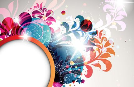 abstrato, teste padrão de flor, floral, vetor, cores papéis de parede