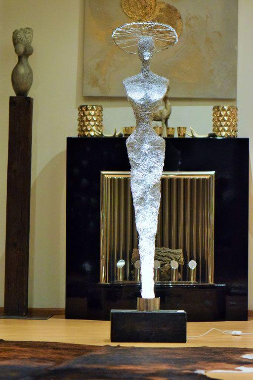 Design Draht Lampen Draht Skulptur Leuchten Led Licht Kunst Made In Germany Schoner Wohnen Deutschland We Zeitgenossische Skulptur Drahtskulptur Led