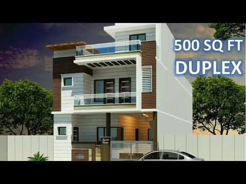 20x25 Small House Design 500 Sq Ft Youtube Row House Design Small House Design Narrow House Plans