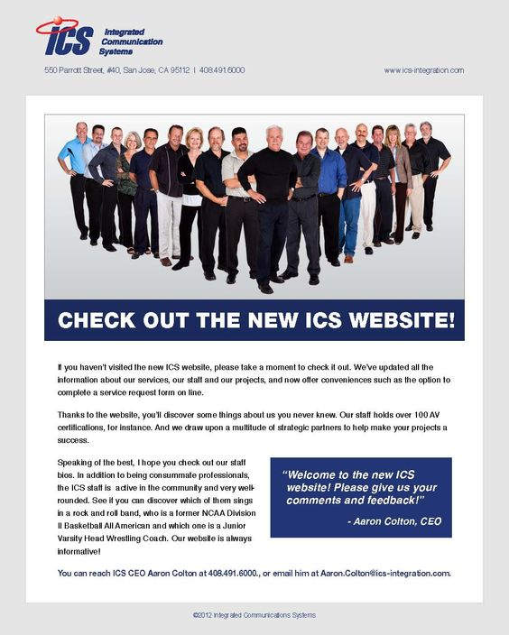 ICS has a new website! Check it out and let us know what you think - check request form