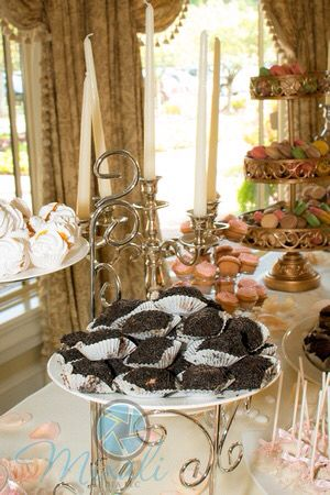 Yummy dessert table during bridal shower.