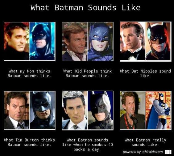 HAHAHA  This is great!!!  My fav Batman is Michael Keaton.