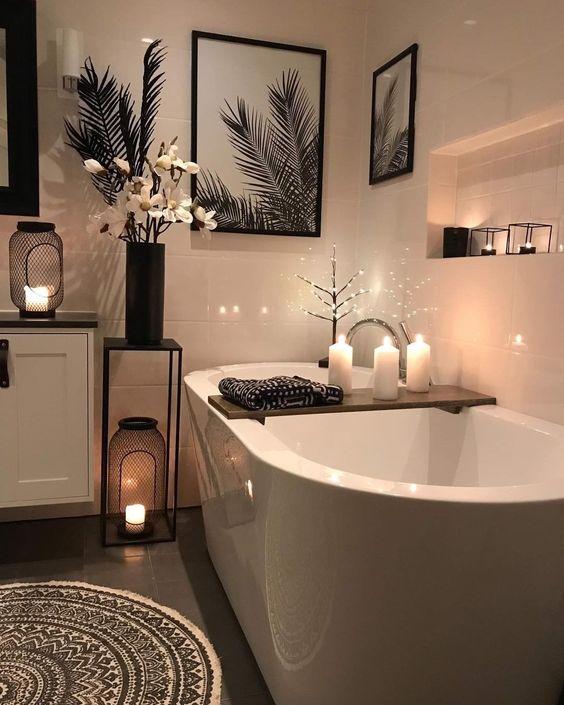 Decorar el baño con velas
