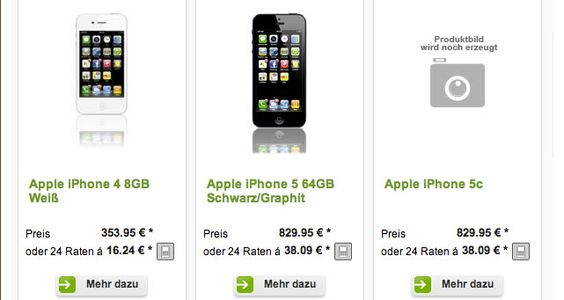iPhone 5C bei FYVE: lieferbar in 4-7 Tagen - http://apfeleimer.de/2013/08/iphone-5c-bei-fyve-lieferbar-in-4-7-tagen - Das Apple iPhone 5C bei FYVE bereits in 4-7 Tagen lieferbar? Für lediglich 829,95 EUR bietet der Mobilfunkanbieter FYVEbereits heute das iPhone 5C an. Tief verborgen unter Handys im Fyve Handyshop findet man als neues Apple Produkt das Apple iPhone 5C. Mal ganz davon abgesehen, dass das...