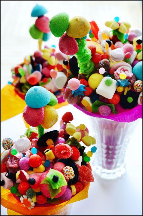 Bouquet de bonbons candy flowers diy chuches - Comment fabriquer un sac a bonbon pour halloween ...