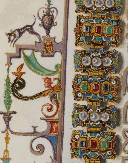 The Jewel book of Anna of Bavaria. By Hans Mielich, 1552 bracelet detail Digitale Bibliothek - Münchener Digitalisierungszentrum: