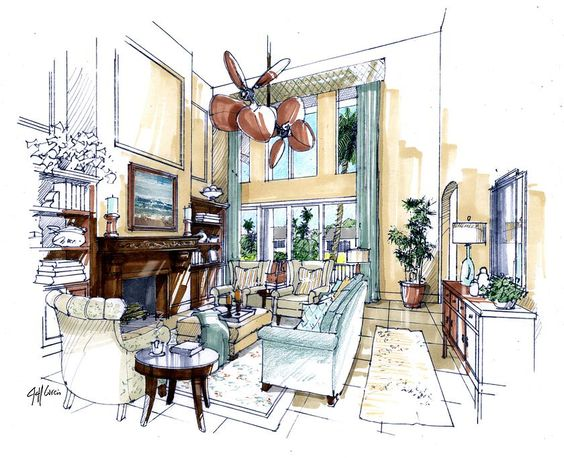 Providing Hand Drawn Architectural Renderings To Designers