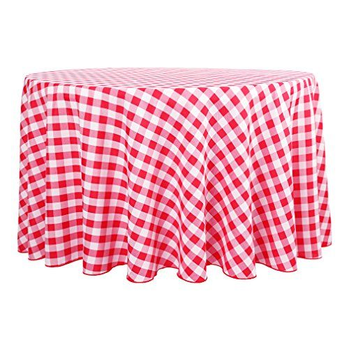 E Tex 120 Inch Round Tablecloth Red White Checker E Tex Https Www Amazon Com Dp B071gn8ytm Ref Cm Sw R Pi Checkered Tablecloth Table Cloth Round Tablecloth