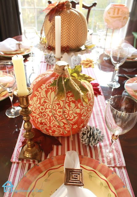 Remodelando la Casa: Fall Tablescape with Transformed Pumpkins