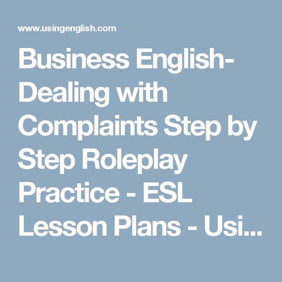 Teaching business english lesson plans
